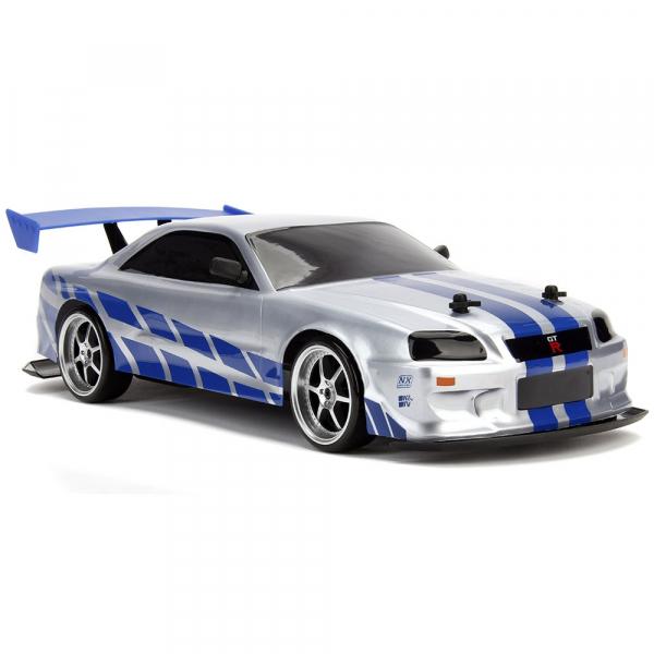 Masina Jada Toys Fast and Furious Nissan Skyline GTR Drift cu anvelope si telecomanda 6