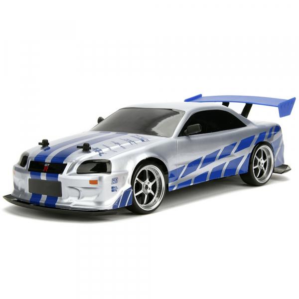 Masina Jada Toys Fast and Furious Nissan Skyline GTR Drift cu anvelope si telecomanda 2
