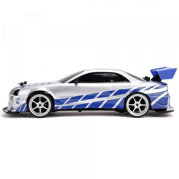 Masina Jada Toys Fast and Furious Nissan Skyline GTR Drift cu anvelope si telecomanda 3