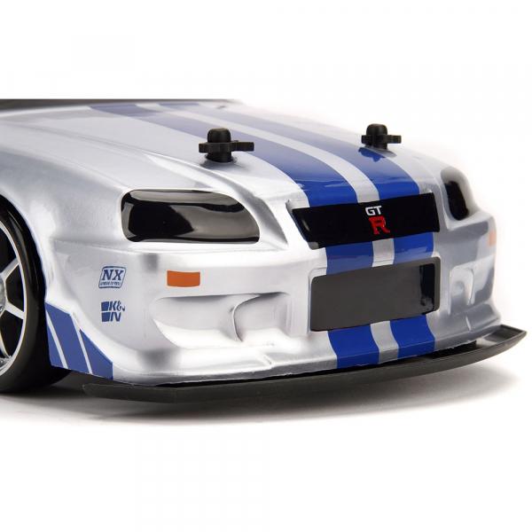 Masina Jada Toys Fast and Furious Nissan Skyline GTR Drift cu anvelope si telecomanda 13