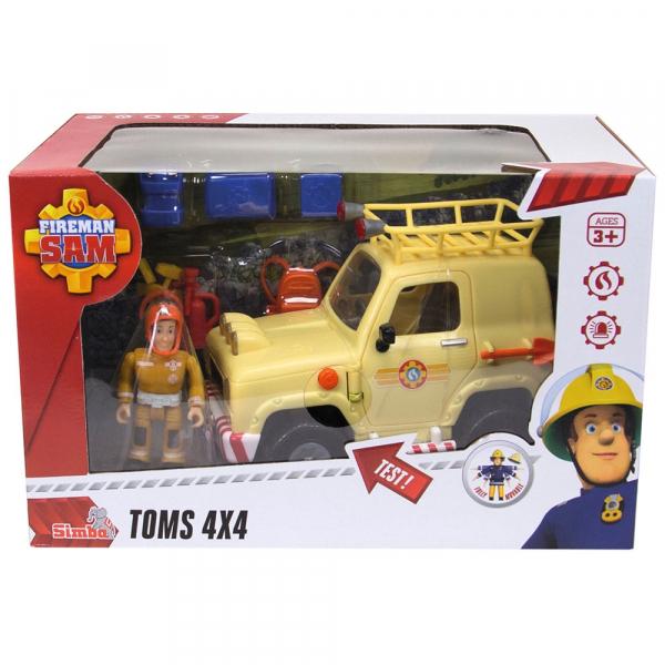 Masina Simba Fireman Sam Tom's 4x4 cu 1 figurina si accesorii [9]
