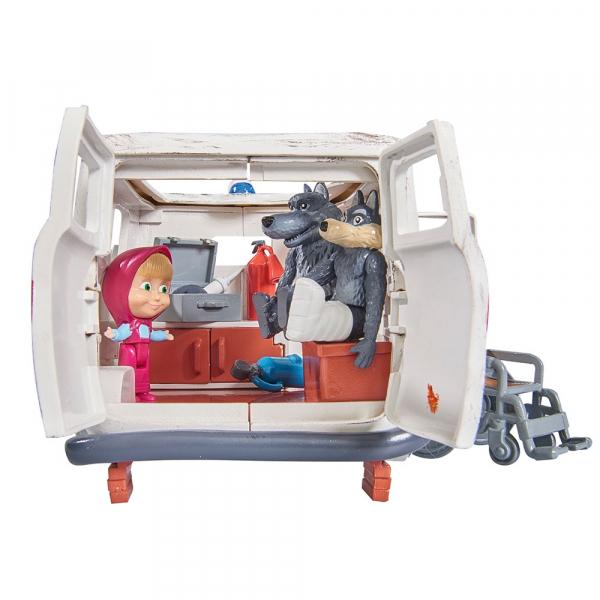 Masina Simba Masha and the Bear Ambulance cu accesorii 3
