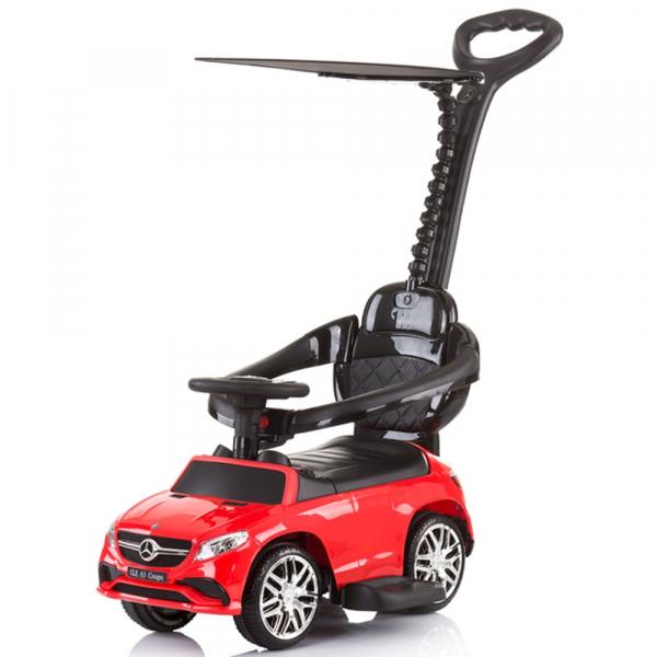 Masinuta de impins Chipolino Mercedes AMG GLE 63 Coupe red cu maner si copertina [0]