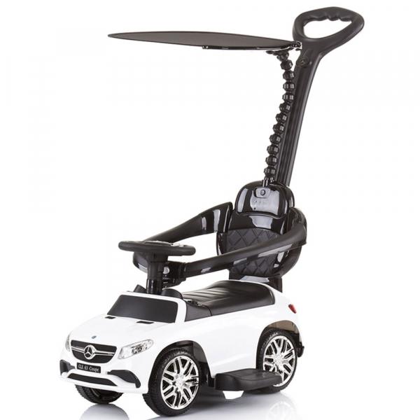 Masinuta de impins Chipolino Mercedes AMG GLE 63 Coupe white cu maner si copertina [0]