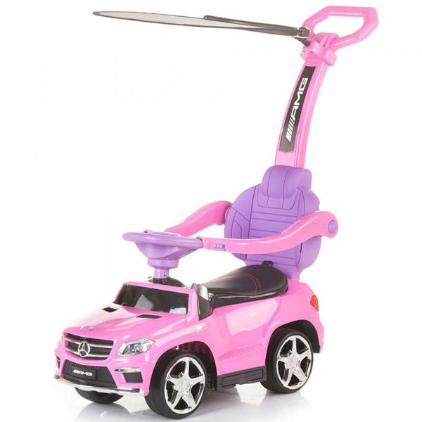 Masinuta de impins cu copertina Chipolino Mercedes Benz GL63 AMG pink [0]