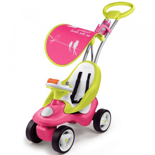 Masinuta de impins Smoby Bubble Go 2 in 1 pink 1