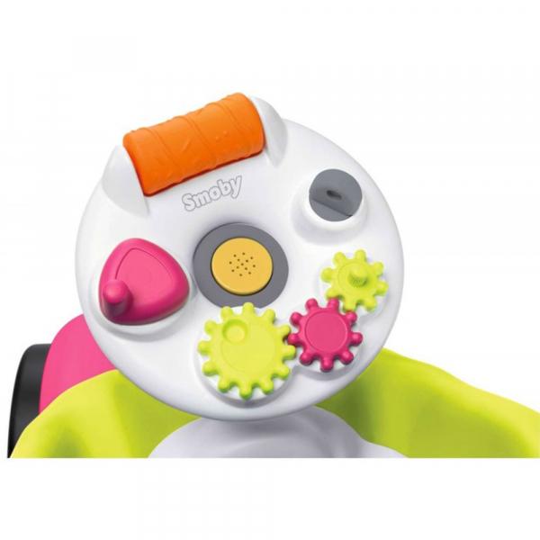 Masinuta de impins Smoby Bubble Go 2 in 1 pink 8