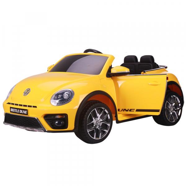 Masinuta electrica Chipolino Volkswagen Beetle Dune yellow 0
