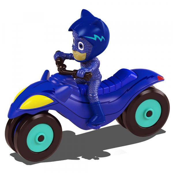 Motocicleta Dickie Toys Eroi in Pijama Moon Rover cu figurina Cat Boy [0]