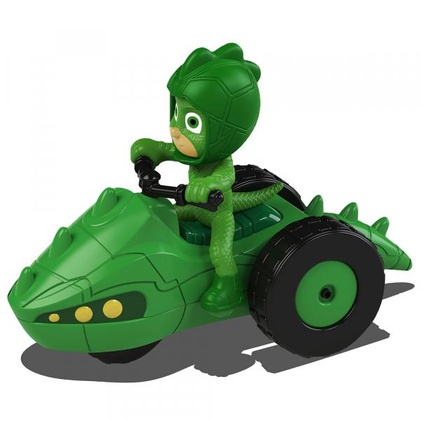 Motocicleta Dickie Toys Eroi in Pijama Moon Rover cu figurina Gekko 0