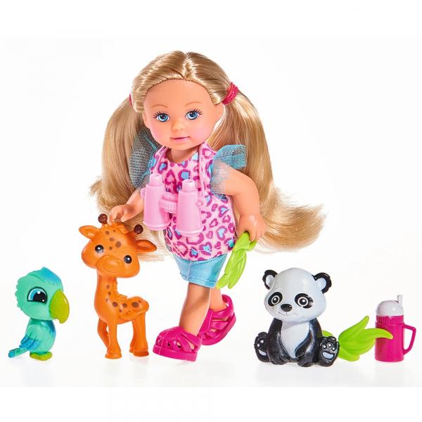 Papusa Simba Evi Love 12 cm Baby Safari cu figurine si accesorii [0]