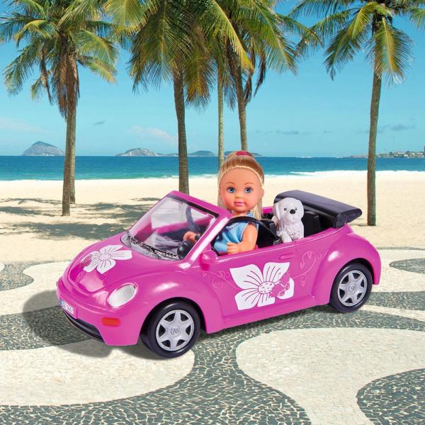 Papusa Simba Evi Love 12 cm Evi's Beetle cu masina, catelus si accesorii [1]