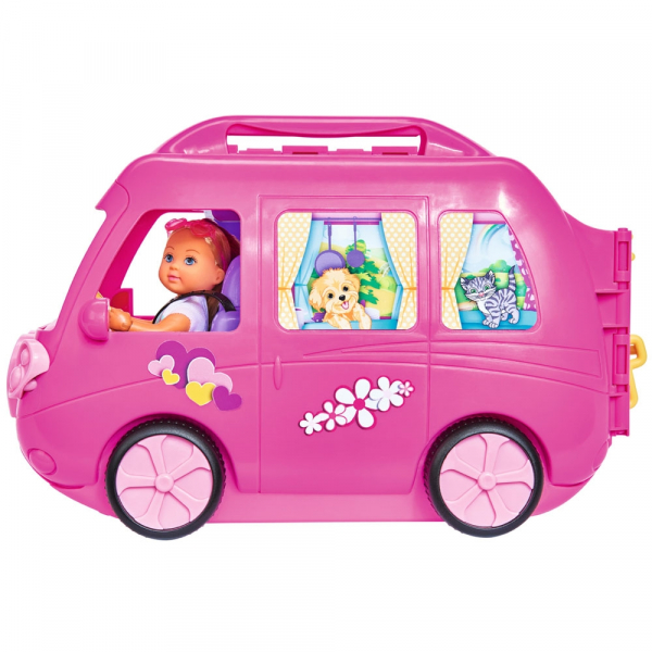 Papusa Simba Evi Love 12 cm Holiday Camper cu rulota si accesorii 2