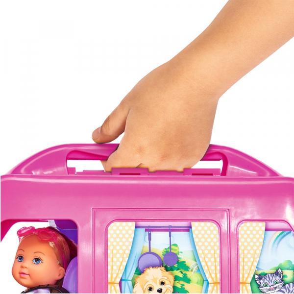 Papusa Simba Evi Love 12 cm Holiday Camper cu rulota si accesorii 3