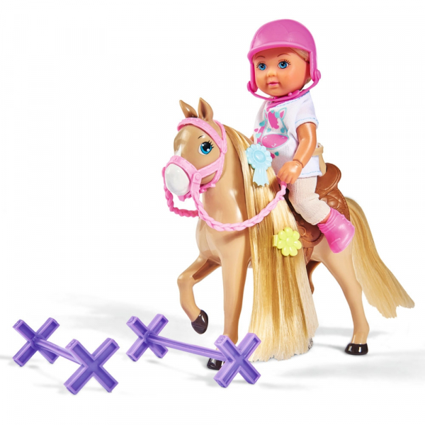 Papusa Simba Evi Love 12 cm Holiday Horse cu calut si accesorii 1