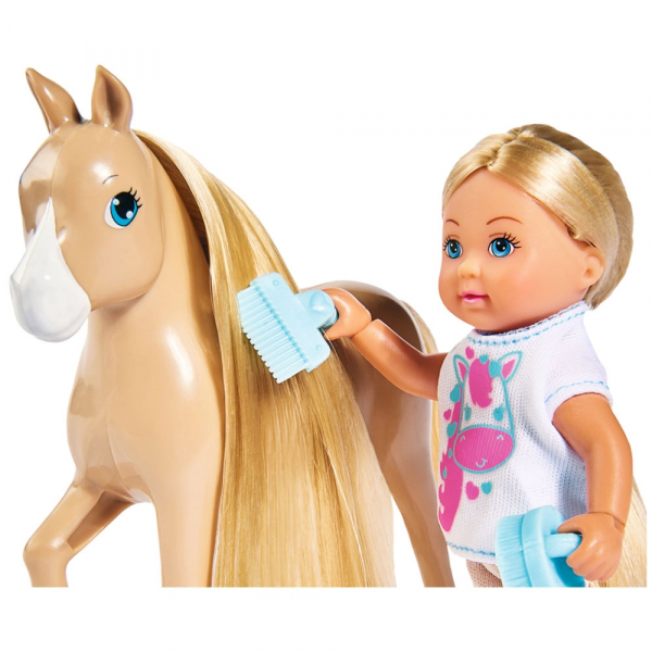 Papusa Simba Evi Love 12 cm Holiday Horse cu calut si accesorii 3