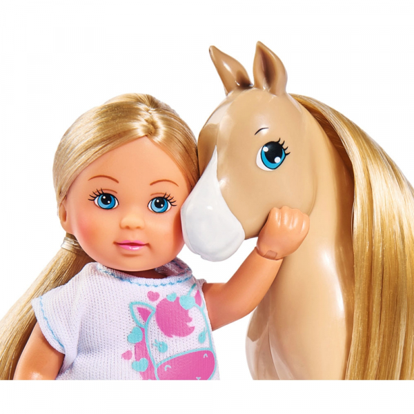 Papusa Simba Evi Love 12 cm Holiday Horse cu calut si accesorii 2