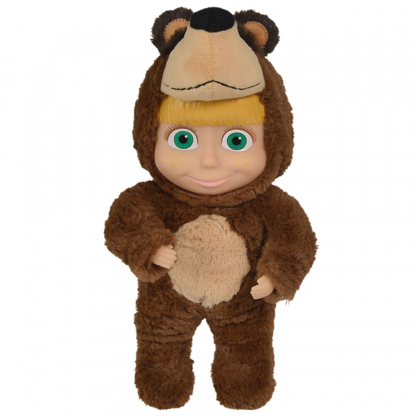 Papusa Simba Masha and the Bear 2 in 1 Masha 25 cm in costum de urs 0