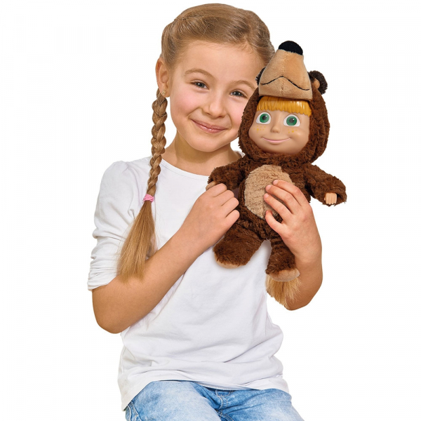 Papusa Simba Masha and the Bear 2 in 1 Masha 25 cm in costum de urs 2