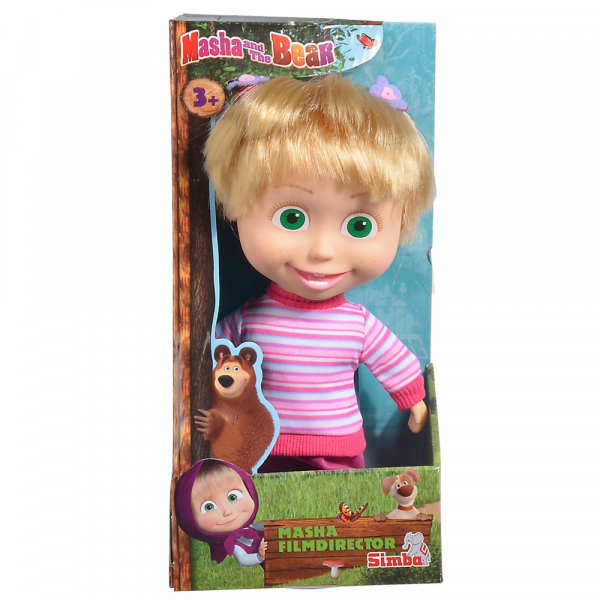 Papusa Simba Masha and the Bear 23 cm Masha Movie Director 2
