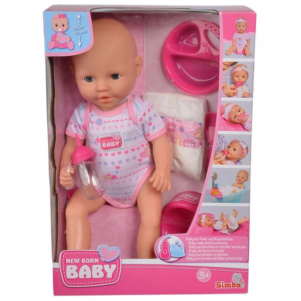 Papusa Simba New Born Baby 38 cm Bebe cu olita si accesorii [8]