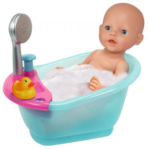 Papusa Simba New Born Baby 38 cm Bebe cu olita si accesorii [4]