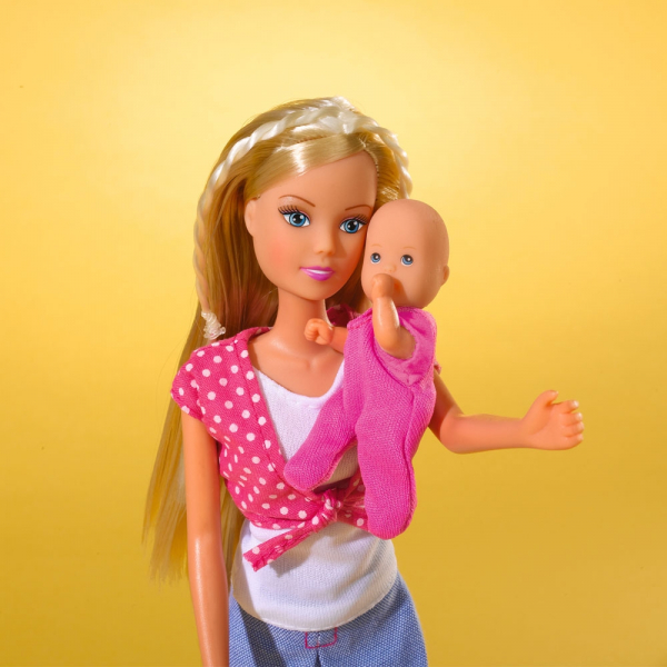 Papusa Simba Steffi Love 29 cm Baby World cu 2 copii, 1 bebelus si accesorii 2
