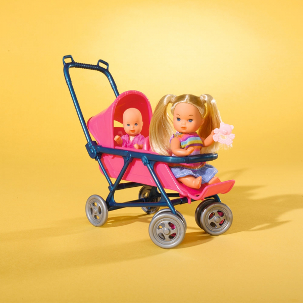 Papusa Simba Steffi Love 29 cm Baby World cu 2 copii, 1 bebelus si accesorii 4