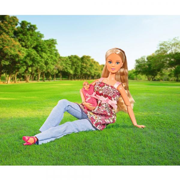 Papusa Simba Steffi Love 29 cm Welcome Baby cu bebelus si accesorii 4