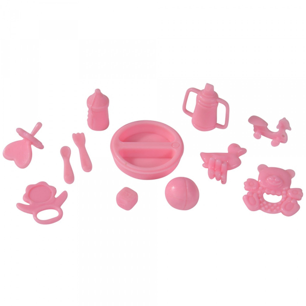 Papusa Simba Steffi Love Baby Walk 29 cm roz cu carucior si accesorii 1