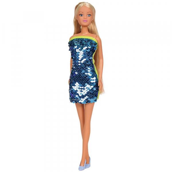 Papusa Simba Steffi Love Swap 29 cm cu rochie albastru 0