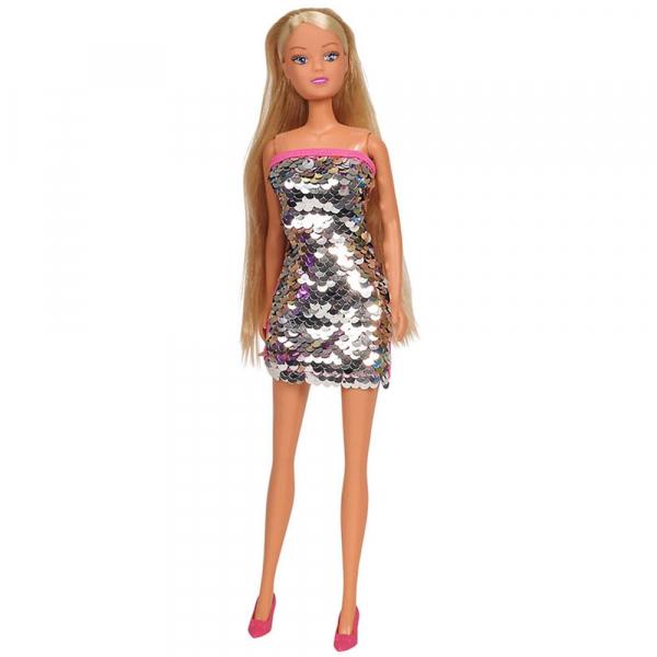 Papusa Simba Steffi Love Swap 29 cm cu rochie gri 0