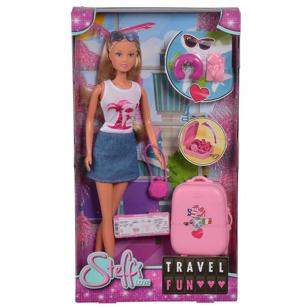 Papusa Simba Steffi Love Travel Fun 29 cm cu accesorii [2]