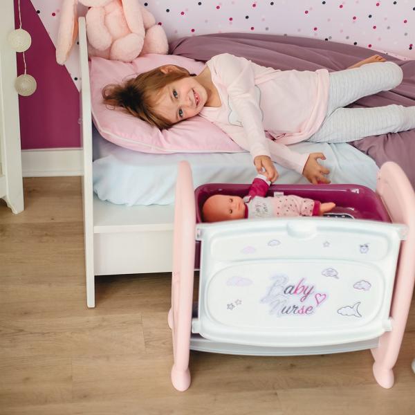 Patut Co-Sleeper pentru papusi Smoby Baby Nurse 2 in 1 7