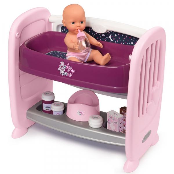 Patut Co-Sleeper pentru papusi Smoby Baby Nurse 2 in 1 1