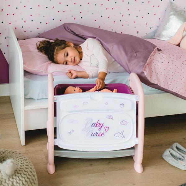 Patut Co-Sleeper pentru papusi Smoby Baby Nurse 2 in 1 6