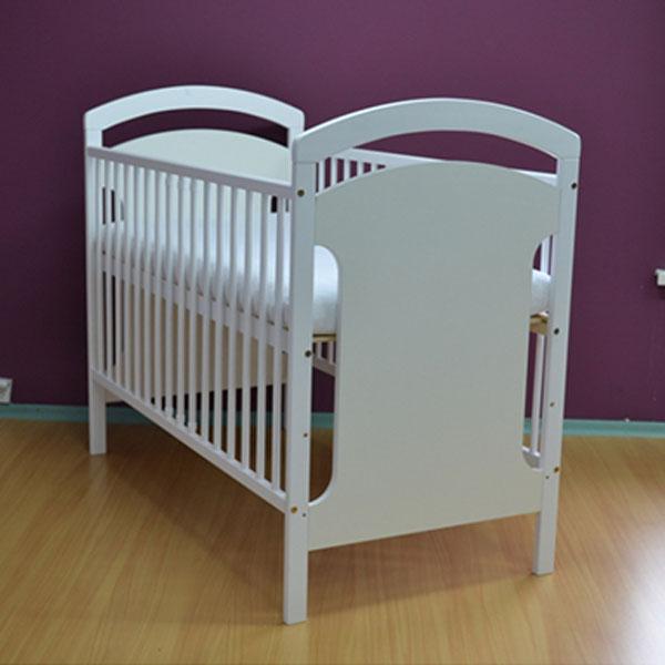 Patut copii din lemn Hubners Anita 120x60 cm alb [1]