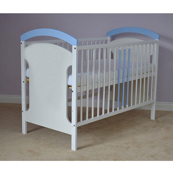 Patut copii din lemn Hubners Anita 120x60 cm alb-albastru 1