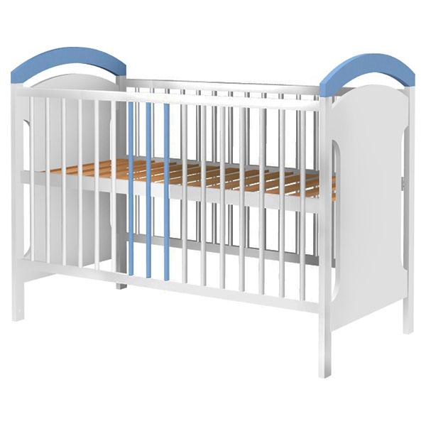 Patut copii din lemn Hubners Anita 120x60 cm alb-albastru 0