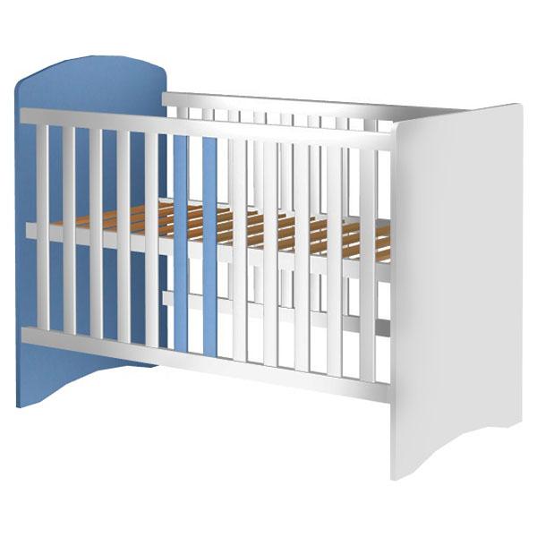 Patut copii din lemn Hubners Anne 120x60 cm alb-albastru 0