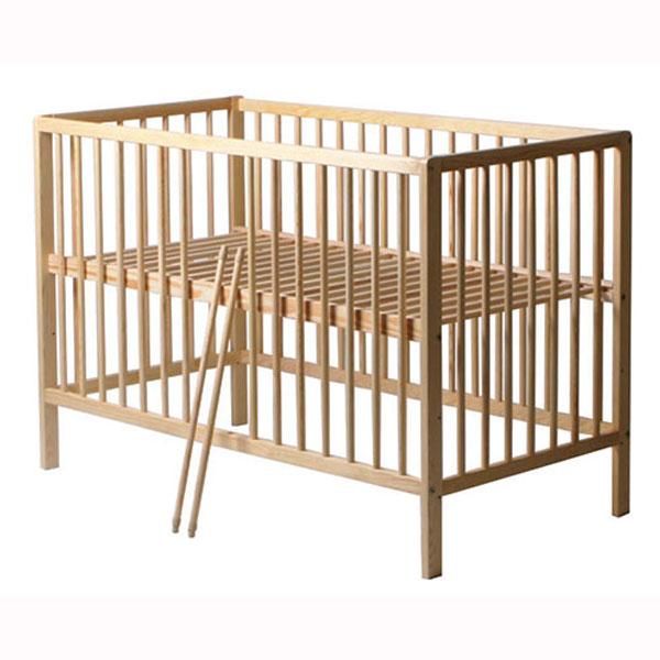 Patut copii din lemn Hubners Dominic 120x60 cm natur 1