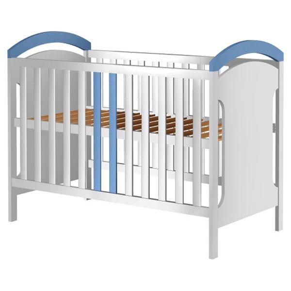 Patut copii din lemn Hubners Hansell 120x60 cm alb-albastru 0