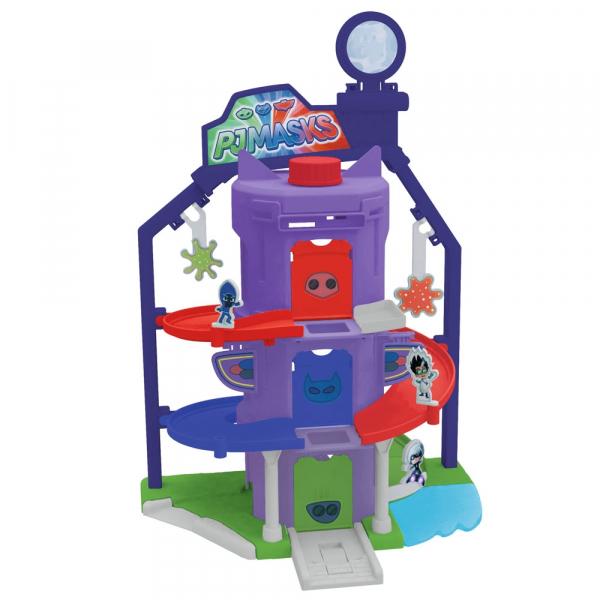 Pista de masini Dickie Toys Eroi in Pijama Team Headquarter cu 1 masinuta si 1 figurina 0