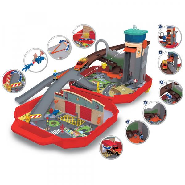 Pista de masini Dickie Toys Fireman Sam Ponty Pandy 2