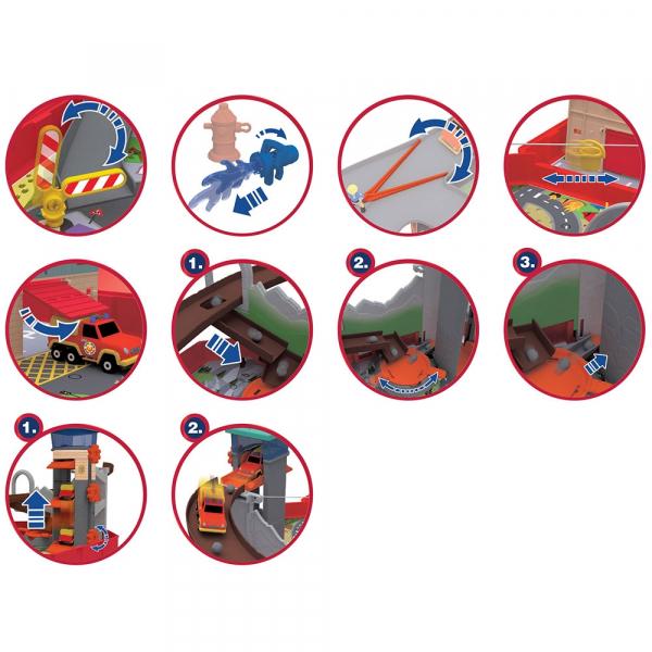 Pista de masini Dickie Toys Fireman Sam Ponty Pandy 3