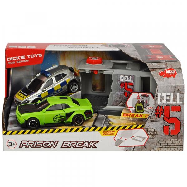 Pista de masini Dickie Toys Prison Break cu 2 masini 7