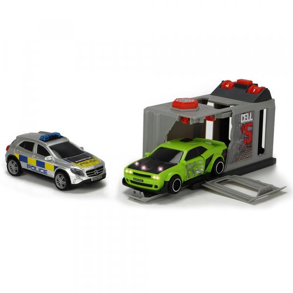 Pista de masini Dickie Toys Prison Break cu 2 masini 0