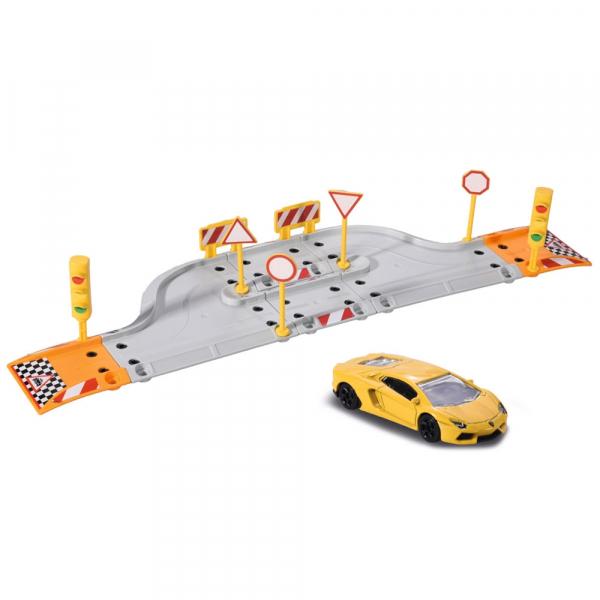 Pista de masini Majorette Creatix Starter Pack cu 1 masinuta Lamborghini 0