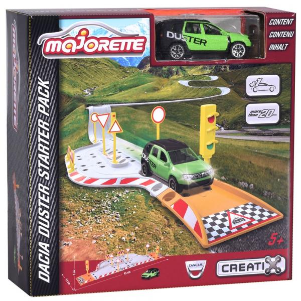 Pista de masini Majorette Creatix Street Set cu 1 Masinuta Dacia Duster 1