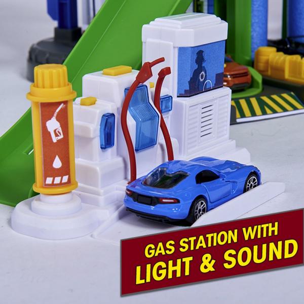 Pista de masini Majorette Super City Garage 4
